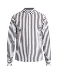 Ami Alexandre Mattiussi Striped Cotton Shirt Black White