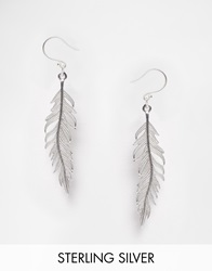 Pieces And Julie Sandlau Sterling Silver Jill Feather Drop Earrings