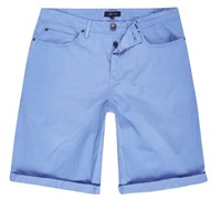 River Island Mens Light Blue Slim Fit Chino Shorts