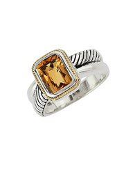 Effy Balissima 18Kt. Yellow Gold And Sterling Silver Citrine Ring Citrine Silver