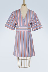 Maison Kitsune Striped Sally Dress Multicolor