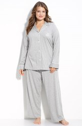 Plus Size Women's Lauren Ralph Lauren Knit Pajamas Grey Heather