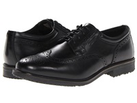 Rockport Essential Details Waterproof Wing Tip Black Men's Lace Up Cap Toe Shoes