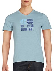 Cult Of Individuality Short Sleeve Cotton T Shirt Light Blue