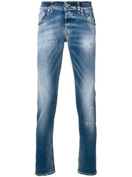 Dondup Distressed Detail Skinny Jeans Blue