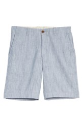 Tommy Bahama Harbor Herringbone Linen Blend Shorts Chambray