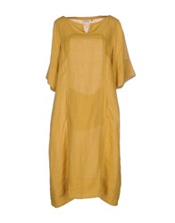 Caliban Knee Length Dresses Ocher