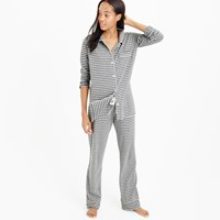 J.Crew Petite Dreamy Cotton Pajama Set In Stripe