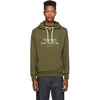 Saturdays Surf Nyc Green Embroidered Miller Standard Ditch Hoodie