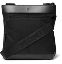 Montblanc Nightflight Leather Trimmed Nylon Messenger Bag Black
