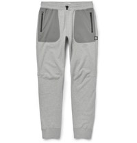 Reigning Champ Tapered Cotton Jersey And Stretch Shell Sweatpants Gray