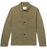 Margaret Howell Mhl Cotton Canvas Jacket Green