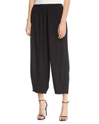 Joan Vass Relaxed Pull On Cropped Pants Petite Black