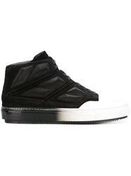 Alejandro Ingelmo Colour Block Hi Tops Leather Calf Suede Rubber Lacquer Black