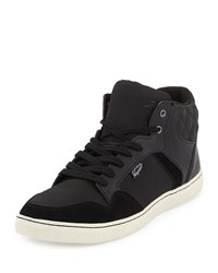 Penguin Roy Quilted High Top Sneaker Black