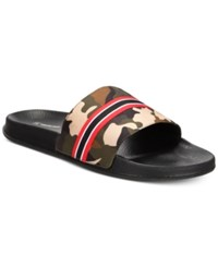 Inc International Concepts I.N.C. Gemini Camo Shower Slides Created For Macy's Shoes Camo Green