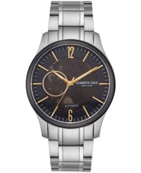 Kenneth Cole New York Automatic Two Tone Stainless Steel Bracelet Watch 42.5Mm Silver