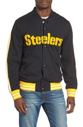 Mitchell And Ness Men's Nfl Steelers Varsity Jacket