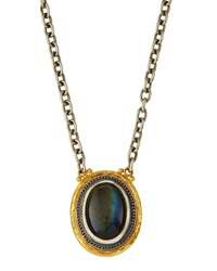 Gurhan Sterling And 24K Gold Gauntlet Labradorite Pendant Necklace
