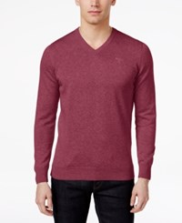 Barbour Men's V Neck Pima Cotton Sweater Candy Marl