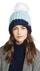 Mischa Lampert Deep Dot Hat White Ice Navy