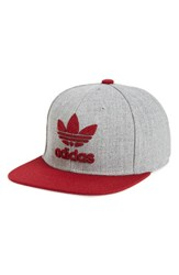 Adidas Men's Originals 'Trefoil Chain' Snapback Cap Grey Medium Grey