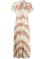 Red Valentino Floral Printed Pleated Dress 60