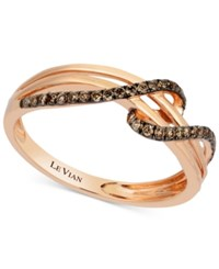 Le Vian Chocolatier Diamond Wrap Ring 1 4 Ct. T.W. In 14K Rose Gold
