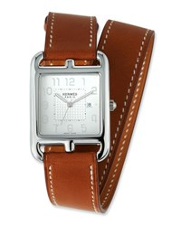 Herm S Large Cape Cod Gm Watch With Barenia Leather Strap
