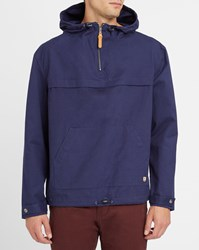 Armor Lux Navy Heritage Waterproof Pea Jacket Blue