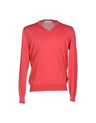 Della Ciana Knitwear Jumpers Men Brick Red