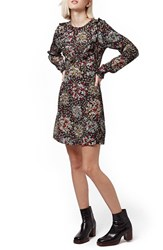 Women's Topshop 'Ditsy Doll' Floral Print Ruffle Detail Dress