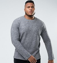 Bellfield Plus Felt Sweatshirt Light Grey