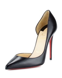 Christian Louboutin Iriza Half D'orsay 100Mm Red Sole Pump Black