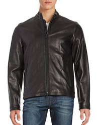 Vince Camuto Leather Motorcycle Jacket Black