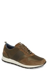Ted Baker London Hebey Lace Up Sneaker Dark Green Textile