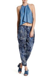 Lysse Relaxed Crop Pant Blue