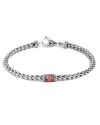 John Hardy Limited Edition Classic Chain Sterling Silver Lava Slim Chain Bracelet With Red Sapphire