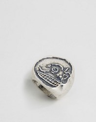Cheap Monday Mad Skull Ring Silver