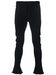 Masnada Flared Trousers Cotton Black