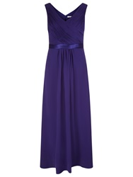 Jacques Vert Evening Dress With Shawl Dark Purple
