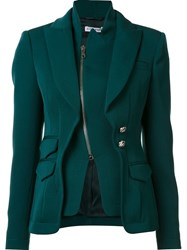 Altuzarra Layered Zip Blazer Green