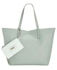 Styleandco. Style Co. Clean Cut Reversible Tote With Wristlet Only At Macy's Aqua Sage