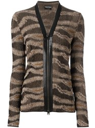 Tom Ford Zipped Cardigan Brown