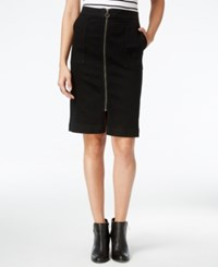 Styleandco. Style Co. Petite Zip Front Denim Skirt Only At Macy's Black Jewel