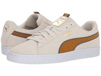Puma Suede Classic Sport Stripes Vaporous Gray Iron Gate Buckthorn Brown Shoes Beige