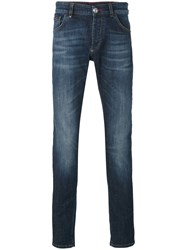 Philipp Plein Straight Leg Jeans Men Cotton Spandex Elastane 31 Blue
