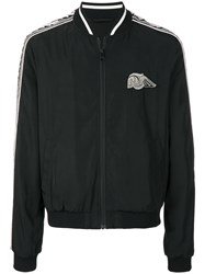 Just Cavalli Skull Patch Bomber Jacket Black