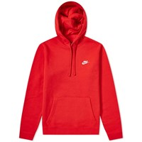 Nike Club Pullover Hoody Red