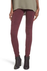 Bp Stretch Cotton Moto Leggings Purple